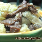 Beef with Cauliflower and Mushroom Stir-fry