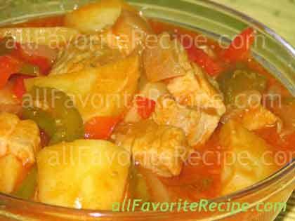 Pork Afritada (Braised Pork in Tomato Sauce) Filipino Recipe